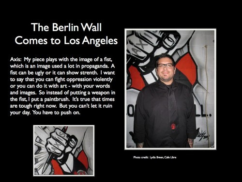 9. The Berlin Wall Comes to L.A.