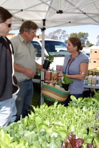 Richard Frost and Rosie Daley at Farmer's Market in Leucadia Photo Credit:  Bob Bretell